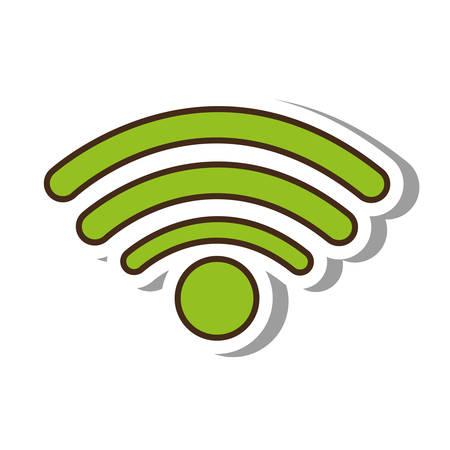 wifi signal service isolated icon vector illustration design