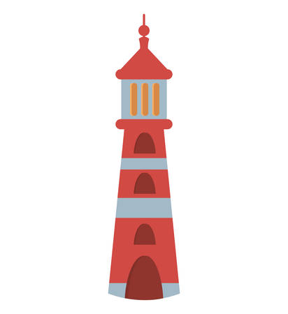 lighthouse beach isolated icon vector illustration design