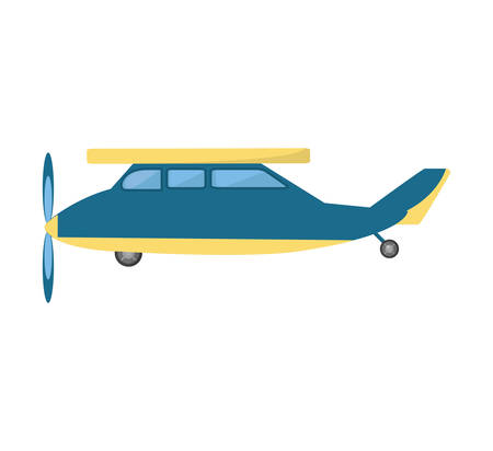 airplane vehicle flying isolated icon vector illustration design Illustration