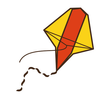 paper kites: beautiful kite flying isolated icon vector illustration design