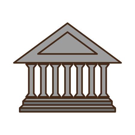 roman pillar: columns building isolated icon vector illustration design Illustration