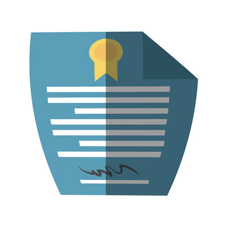 signing papers: contract paper document isolated icon vector illustration design