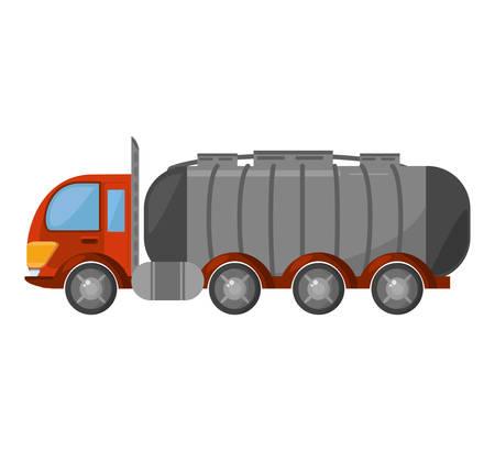 oil tanker truck transport vector illustration design Illustration