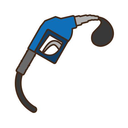 service station: oil service station pump isolated icon vector illustration design Illustration