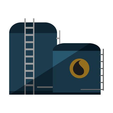impianto di industria di ricerca di idrocarburi illustrazione vettoriale progettazione Vettoriali