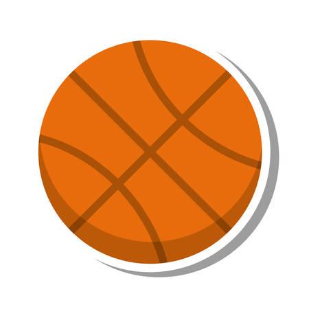 balon baloncesto: con balón de baloncesto aislado icono de ilustración vectorial de diseño