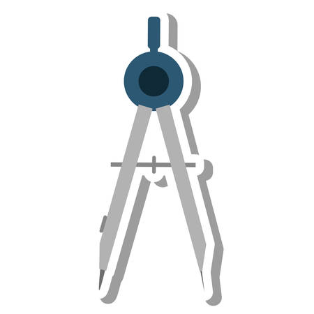 compass school supply isolated icon vector illustration design