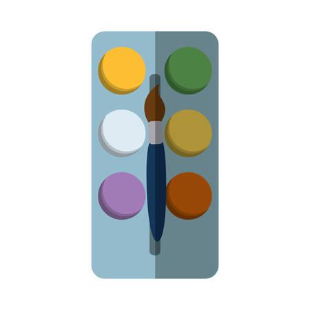 paint pallete isolated icon vector illustration design Illustration