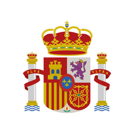 spain shield crown isolated icon vector illustration design  イラスト・ベクター素材