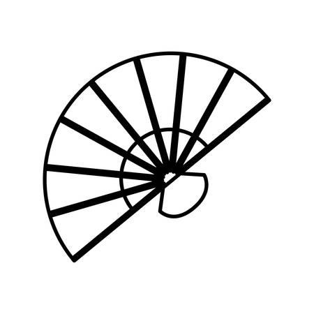 fan accesory female flamenco vector illustration design