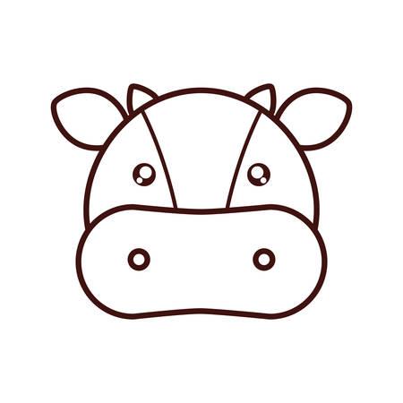 cute cow: cute cow kawaii style vector illustration design