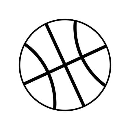 balon de basketball: con balón de baloncesto aislado icono de ilustración vectorial de diseño