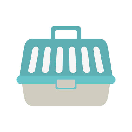 small tools: Pet carrying case isolated icon vector illustration design