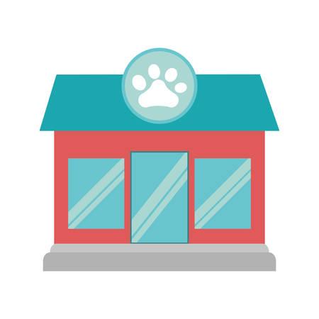 petshop: pet shop store building vector illustration design