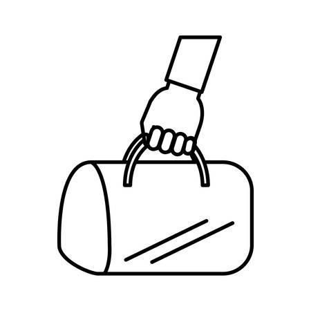 hand bag: hand bag isolated icon vector illustration design Illustration
