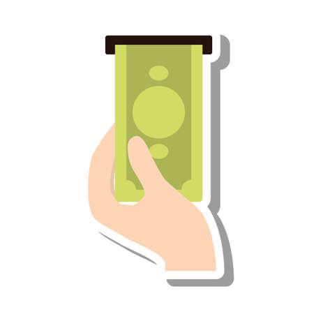 bills dispensing machine icon vector illustration design