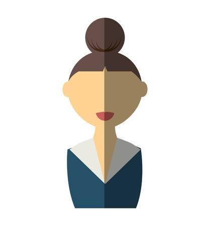 businesswoman avatar elegant isolated icon vector illustration design