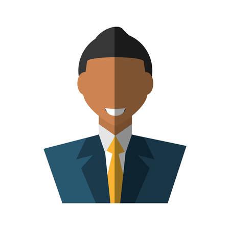 administrador de empresas: businessman avatar elegant islated icon vector illustration design Vectores