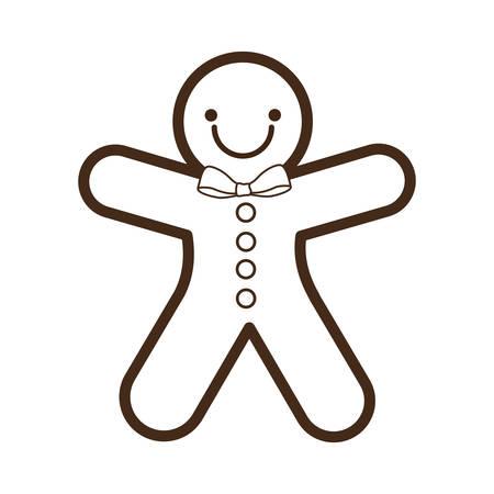 galleta de jengibre: jengibre galletas de Navidad aislado carácter de icono de vector, ilustración, diseño