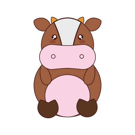 cute cow: cute cow kawaii style vector illustration design
