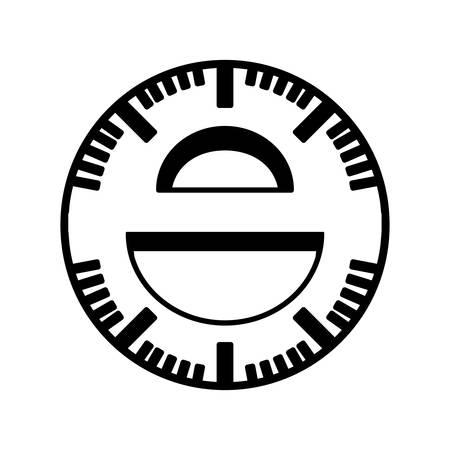 protractor: protractor rule isolated icon vector illustration design Illustration