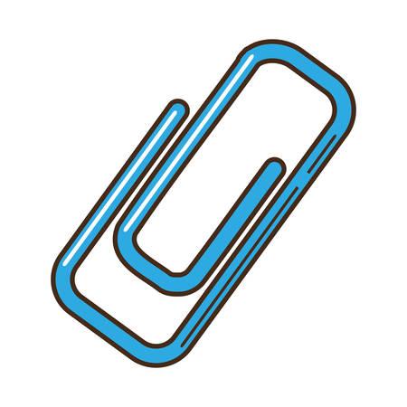 clip paper isolated icon vector illustration design