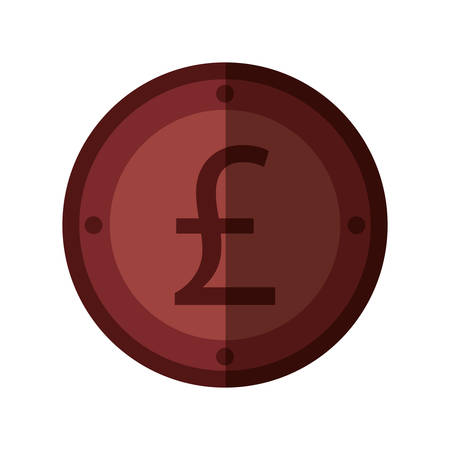 sterling: pound sterling coin isolated icon vector illustration design