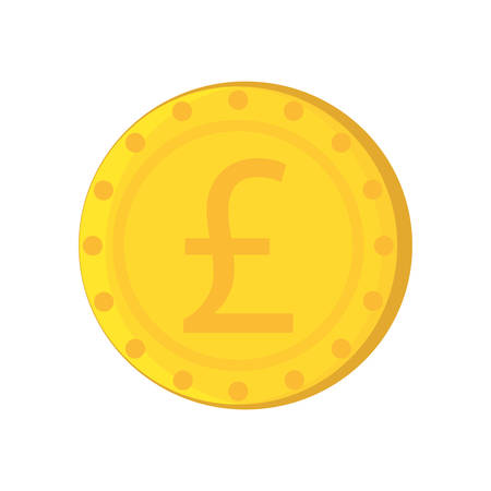 pound coin: pound sterling coin isolated icon vector illustration design