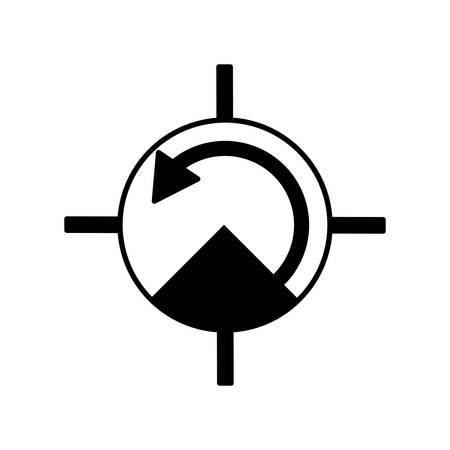 pressure gauge: pressure gauge isolated icon vector illustration design Illustration