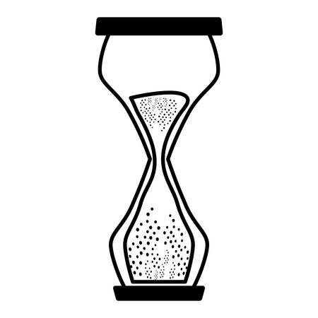 hourglass sand isolated icon vector illustration design