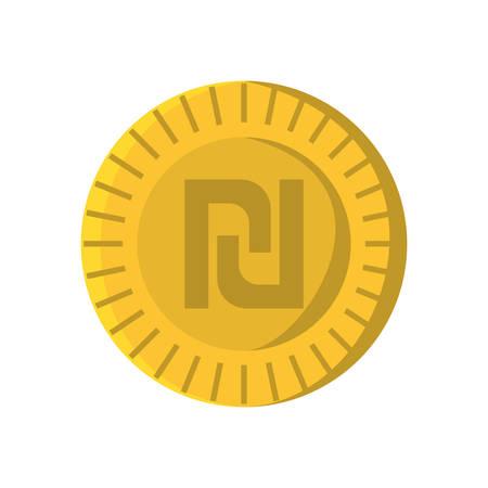 israeli: Israeli shekel isolated icon vector illustration design