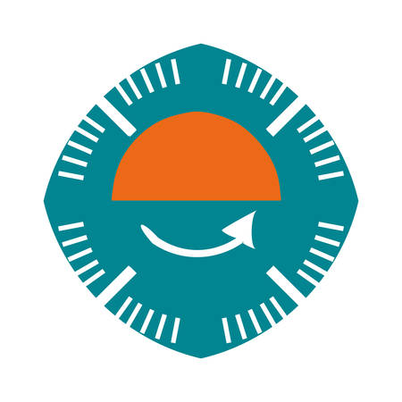 benchmark: pressure gauge isolated icon vector illustration design Illustration