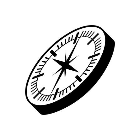 direction magnet: compass guide device isolated icon vector illustration design