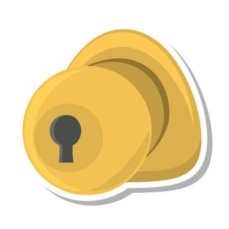doorknob: door handle security isolated icon vector illustration design