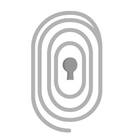 password: security chain with password vector illustration design