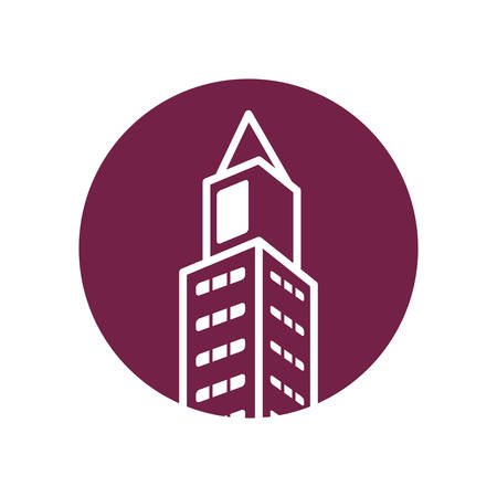 investment real state: real estate building isolated icon vector illustration design Vectores