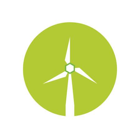 alternative: wind energy green alternative vector illustration design
