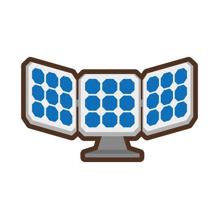 alternative: solar panel energy alternative vector illustration design