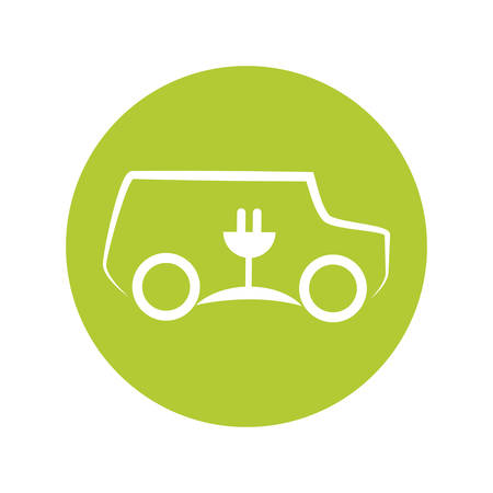 eco car symbol isolated icon vector illustration design
