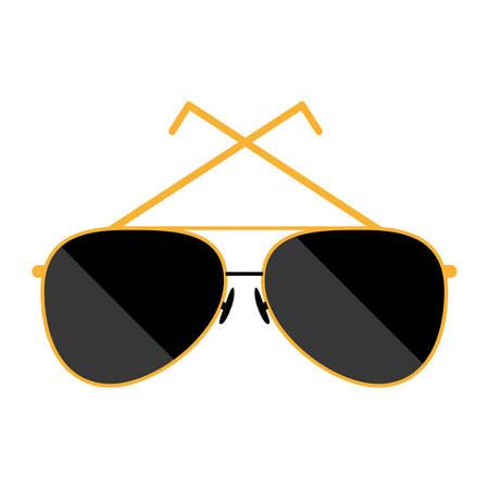 style sunglasses isolated icon vector illustration design Illustration