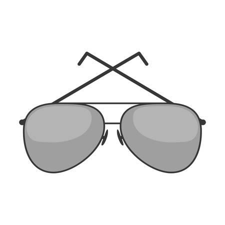 sunglasses isolated: style sunglasses isolated icon vector illustration design Illustration