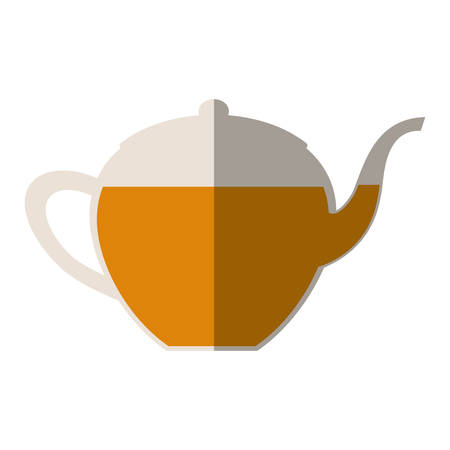 teapot beverage isolated icon vector illustration design Illustration