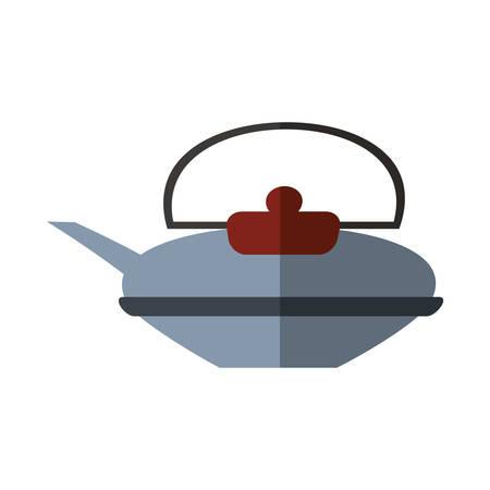 tea kettle: tea kettle beverage isolated icon vector illustration design