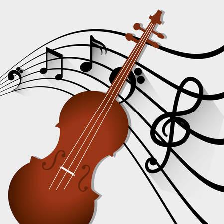 Música acústica icono de instrumento ilustración vectorial diseño gráfico