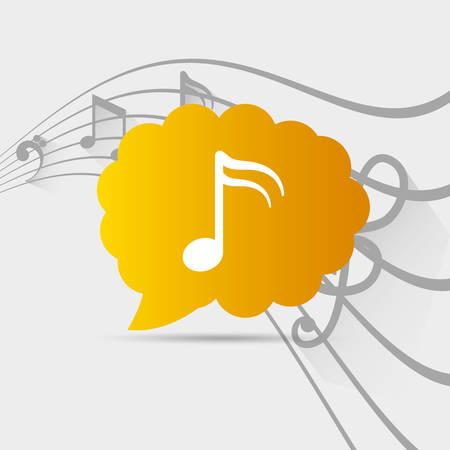 pentagramma musicale: Musica suono icona illustrazione vettoriale progettazione grafica