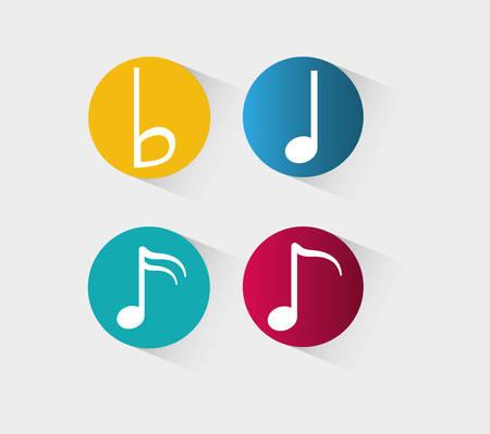 rounds: Music sound art icon vector illustration graphic design Illustration