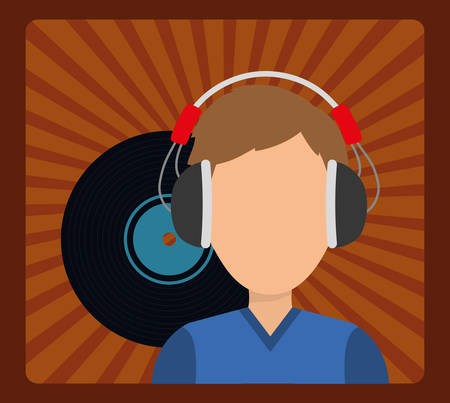 melody: Musician listening melody icon vector illustration graphic design
