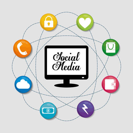 editorial: Social media networking icon vector illustration graphic design