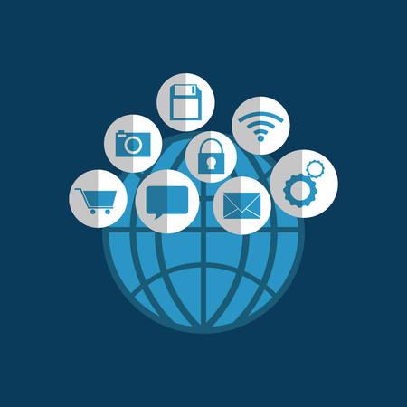 socializando: Social media an icon vector illustration graphic design