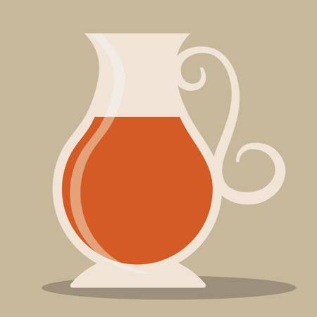 Kettle pot jar icon. Tea drink beverage and restaurant theme. Vector illustration